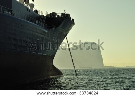 LNG carrier ship designed for transporting natural gas - stock photo