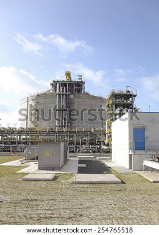 LNG Terminal - stock photo