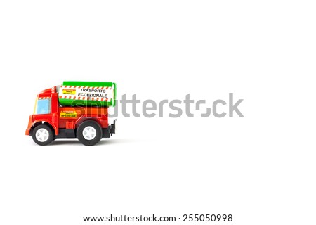 Load flammable toys. Abnormal load. - stock photo