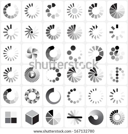 Load Indicators Set - stock photo