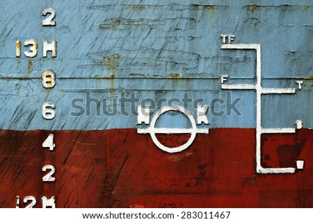 load line ship on a shabby Board