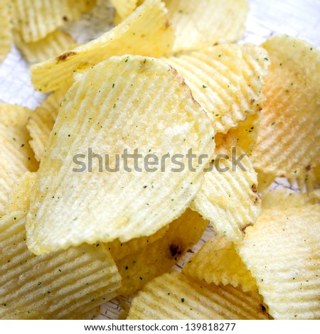 load of fried potato chips