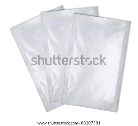 loaded silver aluminum foil bag for food product preserve package with fine cut and work path
