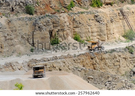 loader at Quarry site - stock photo