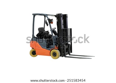 Loader isolated under the white background - stock photo