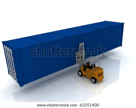 loader lifts container