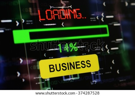 Loading business - stock photo