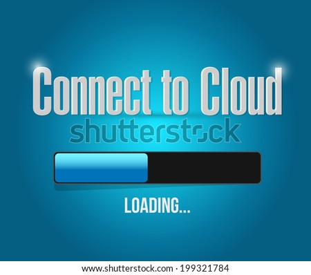 loading cloud connection illustration design over a blue background - stock photo