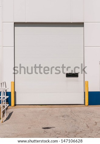 Loading docks and shipping receiving department of a industrial area or at departmental store - stock photo