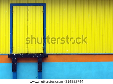 Loading door. Logistics and warehouse.  - stock photo