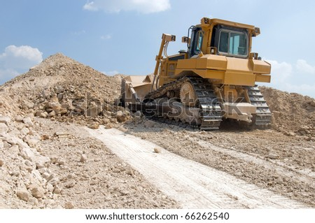 loading machine produces crushed stone for a career