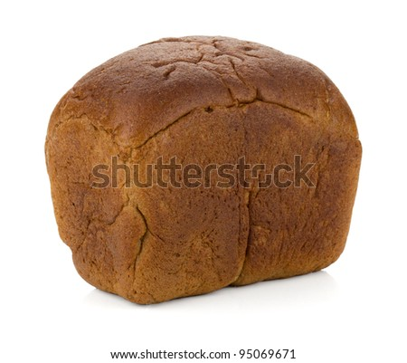 Loaf of rye bread. Isolated on white background