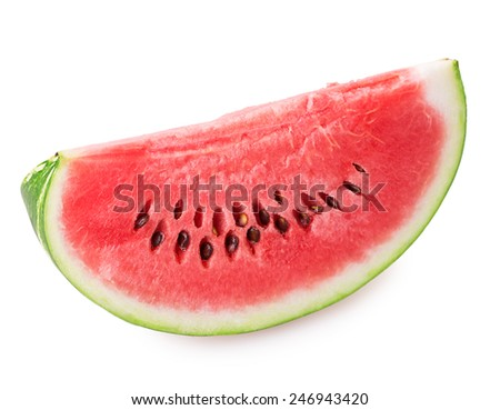 loaf of watermelon Isolated on white background - stock photo