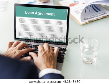 Loan Agreement Budget Capital Credit Borrow Concept