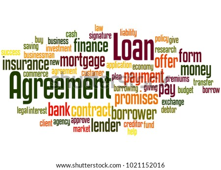 Loan Agreement Word Cloud Concept On Stock Illustration 1021152016