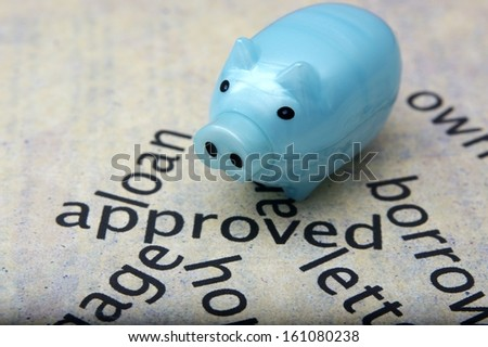 Loan approved and piggy bank