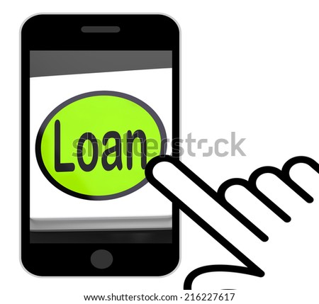 Loan Button Displaying Lending Or Providing Advance