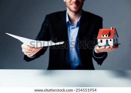 Loan for house, agreement concept - stock photo