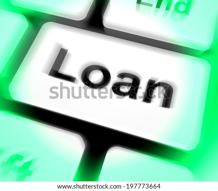 Loan Keyboard Meaning Lending Or Providing Advance