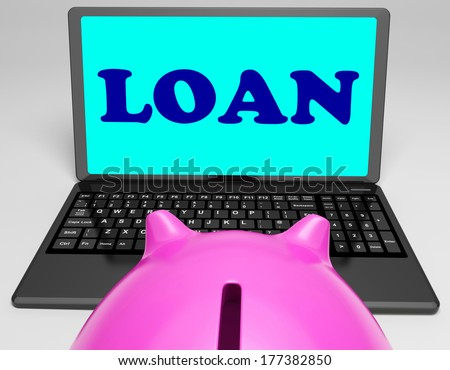 Loan Laptop Meaning Lending And Borrowing Money