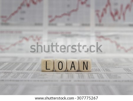 Loan word built with letter cubes