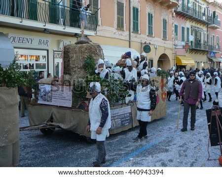 LOANO, ITALY - CIRCA MARCH 2016: Carnival celebrations in Loano aka CarnevaLoa