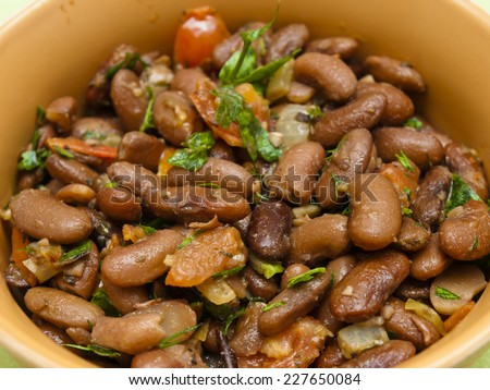 Lobio - Georgian dish with red beans