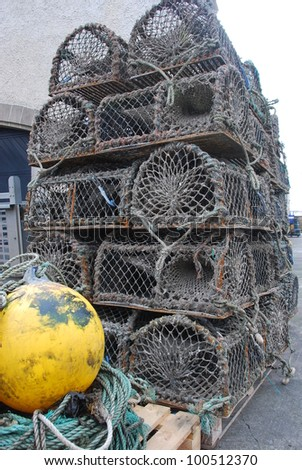 Lobster Cages - stock photo