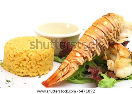 Lobster dinner - stock photo