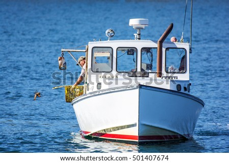 Ocean inlets stock photos royalty free images vectors for Lobster fishing in maine