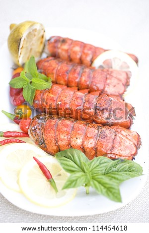 Lobster platter - stock photo