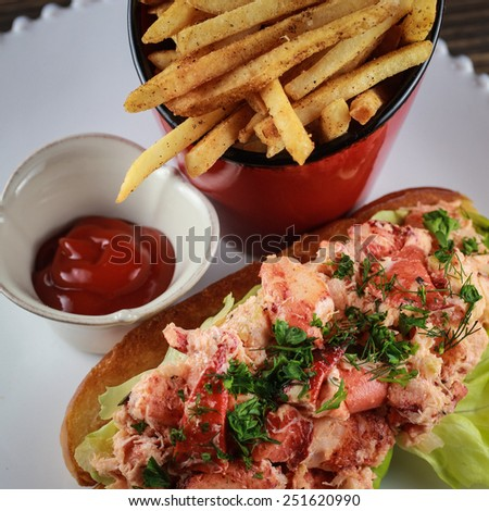 Lobster roll at  - stock photo