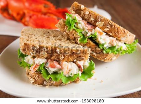 Lobster sandwich - stock photo