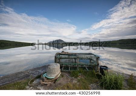 Lobster traps, Connemara, Galway, Ireland - stock photo