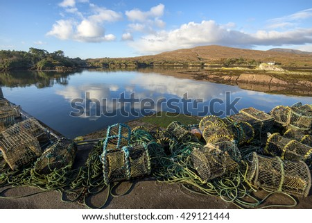Lobster traps, Kerry, Ireland - stock photo