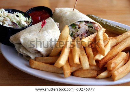 Lobster Wrap With French Fries