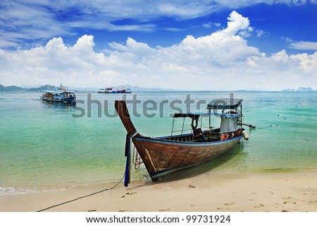 local  and traditional boat in Thailand
