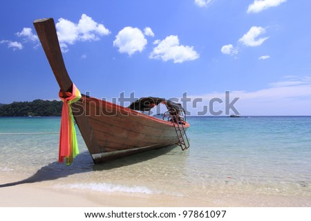 Local boat at Lipe Island