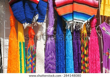 local crafts island of cozumel mexico peninsula of Yucatan - stock photo