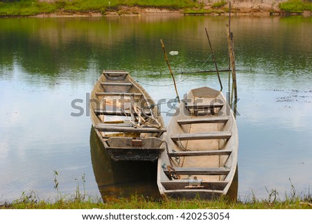 Boat old tug stock images royalty free images vectors for Small plastic fishing boats