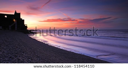 Local landmark in Sidmouth, South West, england - stock photo