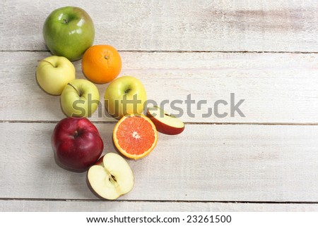 Local market fruit display - stock photo