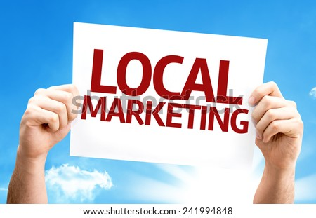 Local Marketing card with a beautiful day - stock photo