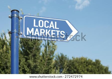 Local Markets - stock photo