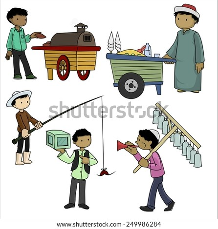 Local Sellers - stock photo