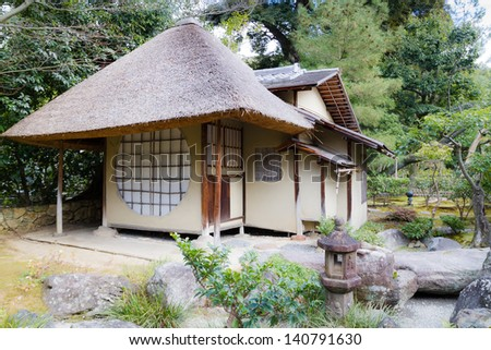Located in Higashiyama, Kyoto, Japan. This is established in 1606 for Toyotomi Hideyoshi by his widow Nene. This the Ihoan, teahouse. - stock photo