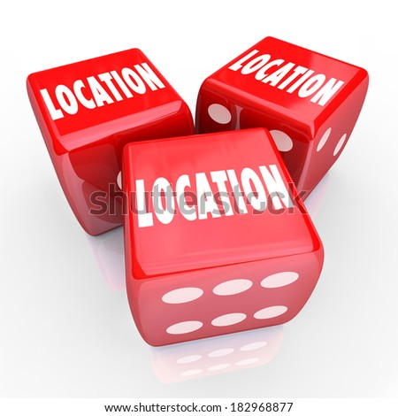Location Words Three Red Dice Best Best Place Area