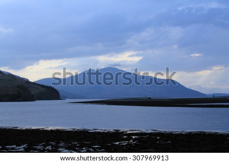 Loch Alsh in the Highlands of  Scotland