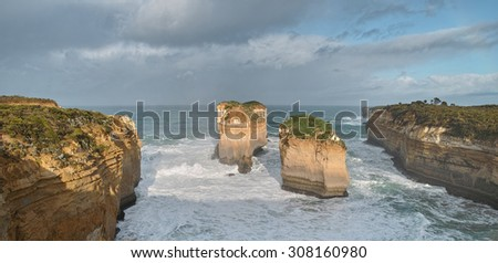 Loch Ard Gorge, Port Campbell National Park, Great Ocean Road, Victoria, Australia. - stock photo