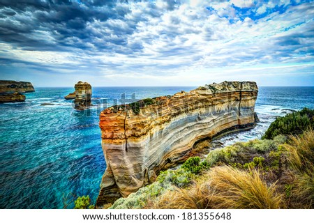 Loch Ard Gorge, Port Campbell National Park - HDR Image - stock photo